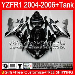 Kit de carenado yzf r1 plata online-8Gift Silver black 23Color Body para YAMAHA YZF R 1 YZF 1000 YZFR1 04 05 06 58HM15 YZF-R1000 YZF-R1 YZF1000 YZF R1 2004 2005 2006 Kit de carenado
