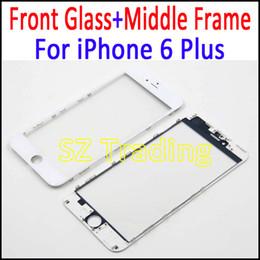 Para iPhone 6 Plus 2 en 1 Lente exterior de cristal táctil original con montaje de marco Para iPhone6 Plus Pieza de reparación Envío gratis desde fabricantes