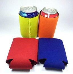neoprene can Promo Codes - Can Insulators Beer Energy Drinks Colorful Water Bottle Sleeve Neoprene Coolie Can Insulator Coolers for Beer and Soda
