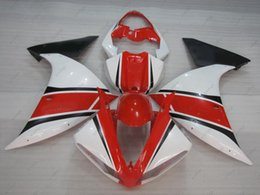 Wholesale Yamaha R1 Red White - Body Kits for YAMAHA YZFR1 10 11 Full Body Kits YZF R1 09 10 Red White ABS Fairing YZFR1 2010 2009 - 2011