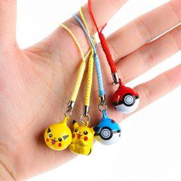 Wholesale Pikachu Ornament - Wholesale- Pocket Monster Pikachu ball treasure may dream of Pikachu Mini Picacho bell ornaments gift bag