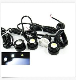 Wholesale Red Eagle Eye Light - 5Pairs 23mm Dia White Eagle Eye Daytime Running Signal Lamp Light Bulb for Car Fog Light