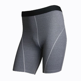 Wholesale Slimming Body Clothes - Wholesale- Men Running Shorts Compression Strength Elastic Fitness Running Gym Clothing Male Bottom Body Building Slim Short Pants 1024
