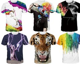 Wholesale Shirt 3d Animals - 2017 Men Fashion Spring and Summer 3D T-shirt novelty casual streetwear men and women tops Short Sleeve Creative printed