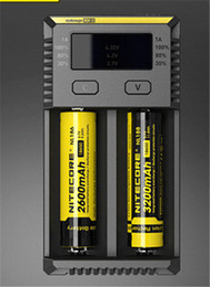 xtar ladegerät vc4 Rabatt Genuine Nitecore NEW I2 Universalladegerät für 16340 18650 14500 26650 Batterie E Zigarette 2in1 Muliti Funktion Intellicharger Sicherheitscode