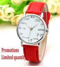 Wholesale Beautiful Ladies Watches - 2017 new Ladies fashion Mathematical formula Beautiful quartz watch Belt watchsell like hot cakes Holiday gifts