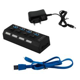 china power plug adapter Rabatt Professionelle Plug and Play 4 Port USB 3.0 Hub Ein / Aus-Schalter AC Power Adapter Kabel für PC Laptop EU / US Stecker