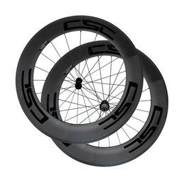 Wholesale Decals For Road Wheels - CSC Decals 88mm Clincher Wheels Carbon Wheelset for Road Bike Powerway R13 Hub 700c 1 Pair Road Bike Wheels