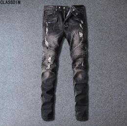 Jeans stile motociclista da uomo stile hip-hop di alta qualità, stile jeans da uomo, 14 colori taglia 28-38 supplier size 14 men da dimensione 14 uomini fornitori
