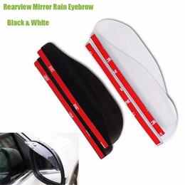 Wholesale Mirrored Visor - 2pcs Pair Premium Universal Rear Mirror Rain Board Eyebrow Visor Shade Shield Water Guard For Car Truck SUV ATV