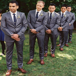 Wholesale Reference Label - Custom Made Two Button slim Fit Groom Tuxedos Peaked Label Best Man Suit Wedding Suits two piece (Jacket+Pants+Tie)