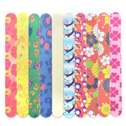 Discount nails files - Wholesale- 10pcs set Professional Art Nail File Buffers Durable Buffing Grit Sandpaper For Manicure Natural Nails