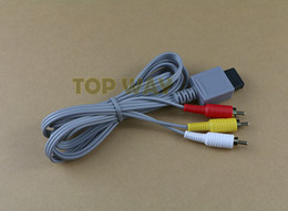 Wholesale Nintendo Rca Cable - 1.8m 6FT Grey Audio Video AV Composite 3 RCA Gilded Cable Connector Cord For Nintendo Wii Console