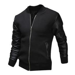 Wholesale Wholesale High Fashion Men Clothing - Wholesale- 2017 New Baseball Uniform Jacket Fight Skin Warm Washed Leather Men's Clothing High Quality Casual Men Jacket Coat