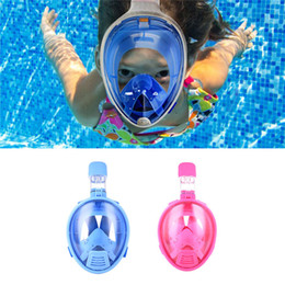 Wholesale Kids Swimming Masks - Kids Full Face Mask Safe Snorkeling Scuba Watersport Underwater Diving Swimming Snorkel Anti Fog Full-face Children Full Dry Diving Mask