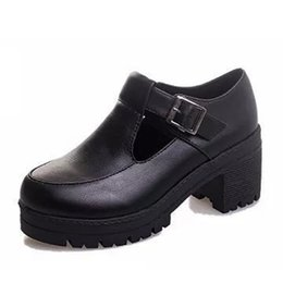 Wholesale Muffin Bands - Wholesale-New 2016 High Quality Soft Leather Shoes Women Flat Platform Muffin Fashion Women's Casual Shoes Brand 7cm Thick Heels ZH544