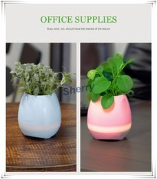 Wholesale Pots Stand - Music Flower Pot Smart Bluetooth Speaker Music Green Plant Home Office Decoration Green Plant Music Vase Touch Induction Creative DHL