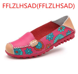 Wholesale Hard Drive Real - New Women Real Leather Shoes Mock Mother Loafers Soft Leisure Flats Female Driving Casual Footwear Size 35-42