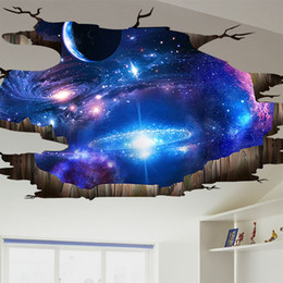 Wholesale Removable Wall Stickers 3d - The star 3D stereoscopic self-adhesive wall stickers bedroom living room ceiling wall stickers decorated dorm wallpaper