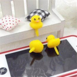 Wholesale Dust Plug Duck - 5pcs lot Yellow Duck Anti Dust Plug Cell Phone Accessories For Iphone5 6 3.5mm Earphone Jack Plug for samsung galaxy s6