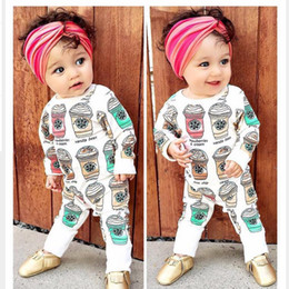 Wholesale Coffee Spring - Spring Baby Rompers 2016 Baby Girls Boys Coffee Cups Romper Cotton One Piece Jumpsuits Children Clothes JY0283