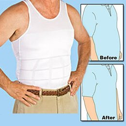Wholesale Abdomen Shapers - Men's Slimming Body Shaper themal Underwear Vest Corset Compression man loose Waist Abdomen Less Beer Belly tops shapers