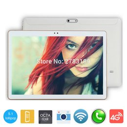 Wholesale Tab Phone Call - Wholesale- 2017 New Android 5.1 Tablet PC Phablet Tab Octa Core 4GB RAM 32GB ROM 10 Inch 1280x800 IPS Screen 3G Phone Call Dual SIM Card