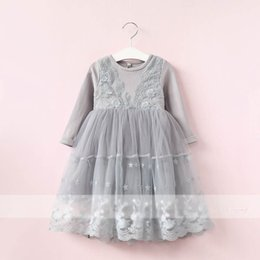 Wholesale Toddler Formal Winter Dresses - 2017 Autumn Winter new Girl Lace Dress Princess Dresses Baby Girl Dresses Fashion kids Party Dress Toddler Formal Dresses Girls Clothes A807