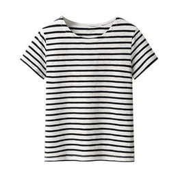 Wholesale Comfortable Clothing - Women summer stripe short sleeves T shirt relaxed women cotton comfortable clothes Bamboo cotton top quality
