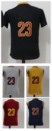 Wholesale Children Size Jerseys - Youth #23 White Red Black Yellow Basketball Jerseys Top quality Size S-XL kids boys Children Sport Basketball Jersey mixed order