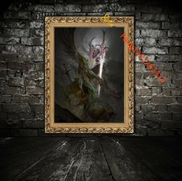 """Wholesale Posters Nude - """"Ars Goetia Marquis Andras"""" Premium Art Print. HD Art Print On Canvas Home Decoration Wall Art Poster And Prints(Unframed)"""