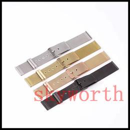 Wholesale Sliver Bracelets - Luxury Milanese Mesh Stainless Steel strap for Apple watch band Wristband with belt Bracelet Straps black sliver gold rose smart girl