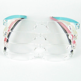 Wholesale Slimming Tube Wholesale - Hot sale Cheap Reading Glasses Slim Plastic Tube Reading Eyeglasses Plastic Case With PC Tube Case Clip For Olders D030