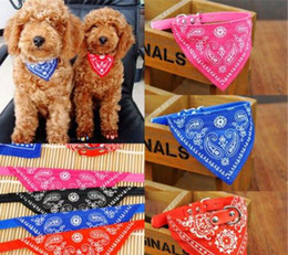 Wholesale Leather Dog Bow Tie - Fashion Leather Cute Flowers Pet Dog Puppy Cats Collar Necks Scarf Tie Bandana Neckerchief