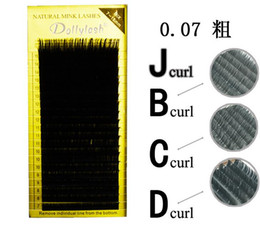 Wholesale row c - All Size 20 Rows Tray Individual Eyelash Extension High Quality Natural False Mink Eyelash Extension 7 To 15mm Mix Free Shipping