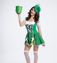 Wholesale Beer Maid Dress - Germany usa European beer festival promotion waiter serving maid cafe Luck of the Irish Gal party dress cosplay Halloween