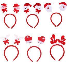 Wholesale Santa Claus Headbands - Christmas decorations Santa Claus Fawn headband head buckle Christmas party Headwear hair band decorations Christmas New Arrive