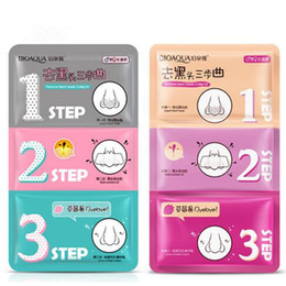 Wholesale Cleaning Beauty Sheet - Beauty Clean Face Care Cosmetic Pig Nose Mask Remove Blackhead Acne Remover Clear Black Head 3 Step Kit Nose Strip Mask CCA7080 1200pcs