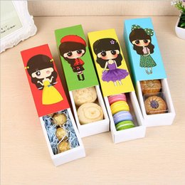 Wholesale Macaron Cookies - Colorful Cute Girl Macaron Box Baking Packaging Box Cake Pastry Cookies Chocolate Box Candy Jewelry Storage Boxes