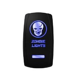 Aus-schalter rot online-Laser Blau Wippschalter ZOMBIE LIGHTS 20A 12V Auf / Aus Grün Rot Weiß LED Licht Fabrik Whosale Kostenloser Versand