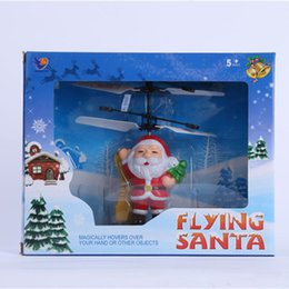 2019 helicóptero amarillo New Arrival Flying Santa Claus Induction aircraft Toys Electric Infrared Sensor RC Helicopter Drone Toy bset Christmas Gifts for kids DHL