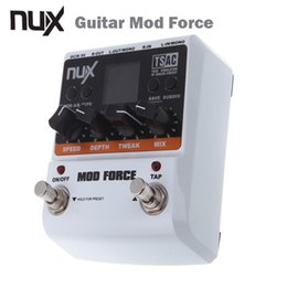 Wholesale Electric Guitar Multi Effects - Wholesale- NUX Guitar Mod Force Electric Guitar Effect Pedal 12 Multi Modulation Color Screen High Quality Guitar parts & Accessories