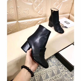 Wholesale Aw Fashion - 2017 aw fashion women classic style genuine leather ankle boots, euro size 35-40,6.5cm heels ,women top quality boots original package