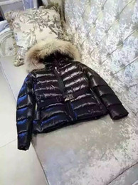 Wholesale Vintage Real Fur Jacket - Hot Women Mon Down Jacket Winter Coat Thickening Female Clothes Real Raccoon Fur Collar Hood Duck Down Jacket Female Warm Outwear Customize