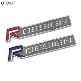 Wholesale Car Decals 3d Letters - 3D Metal Zinc Alloy R DESIGN RDESIGN letter Emblems Badges Car sticker car styling Decal For Volvo V40 V60 C30 S60 S80