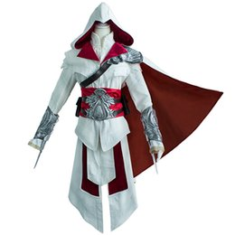 Wholesale Ezio Costume Assassin - Ezio Auditore da Firenze Cosplay Assassins Creed Discovery Brotherhood And Revelations Uo Costume