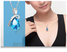 Wholesale Trend Accessories Wholesale - Japan and South Korea explosion trend of fashion accessories angel tears drops crystal pendant jewelry necklace chain wholesale