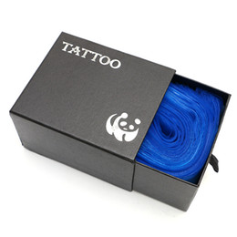 Wholesale Disposable Clips - 100pcs Professional Plastic Blue Safety Disposable Hygiene Plastic Tattoo Clip Cord Bag For Tattoo Accessories Free Shipping TA1161