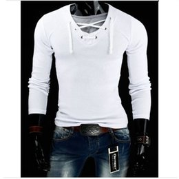 Wholesale v neck compression shirt - Wholesale- 2016 new arrival t shirt men hot faker v neck compression shirt high quality cotton t shirts for man M-3XL dry fit tee shirt