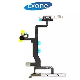 Wholesale Iphone Volume Switch - Tested Original For iPhone 5G 5S 5C 6G plus 6S 6S plus Power Switch, Volume & Mute Button Flex Cable & Metal Brackets Free shipping